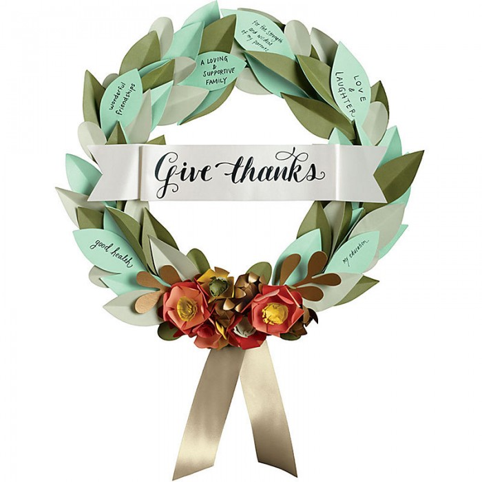 Grateful Paper Wreath