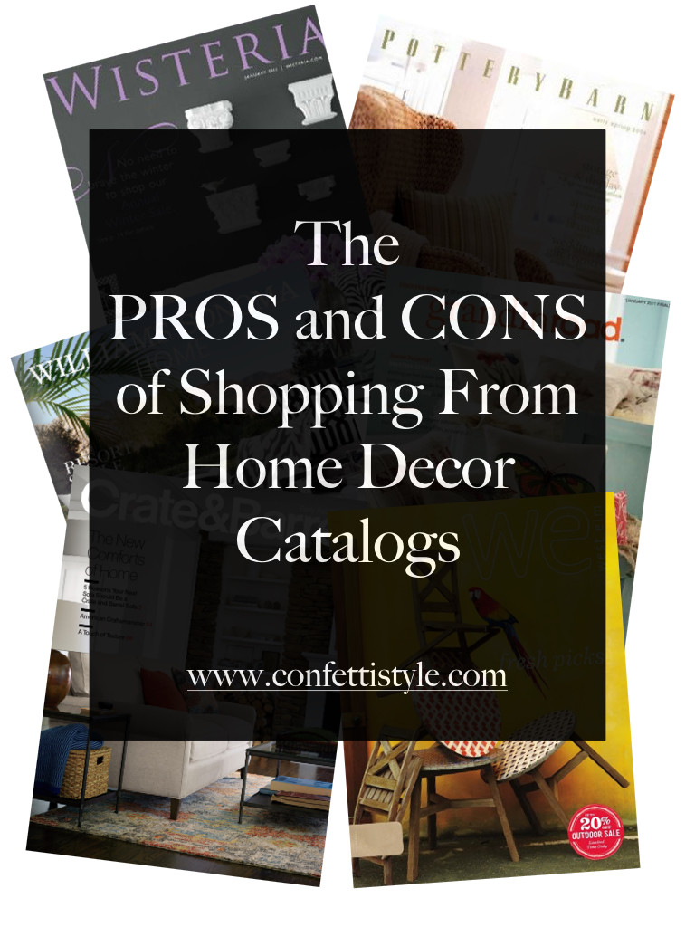 catalog shopping for home decor the pros and cons