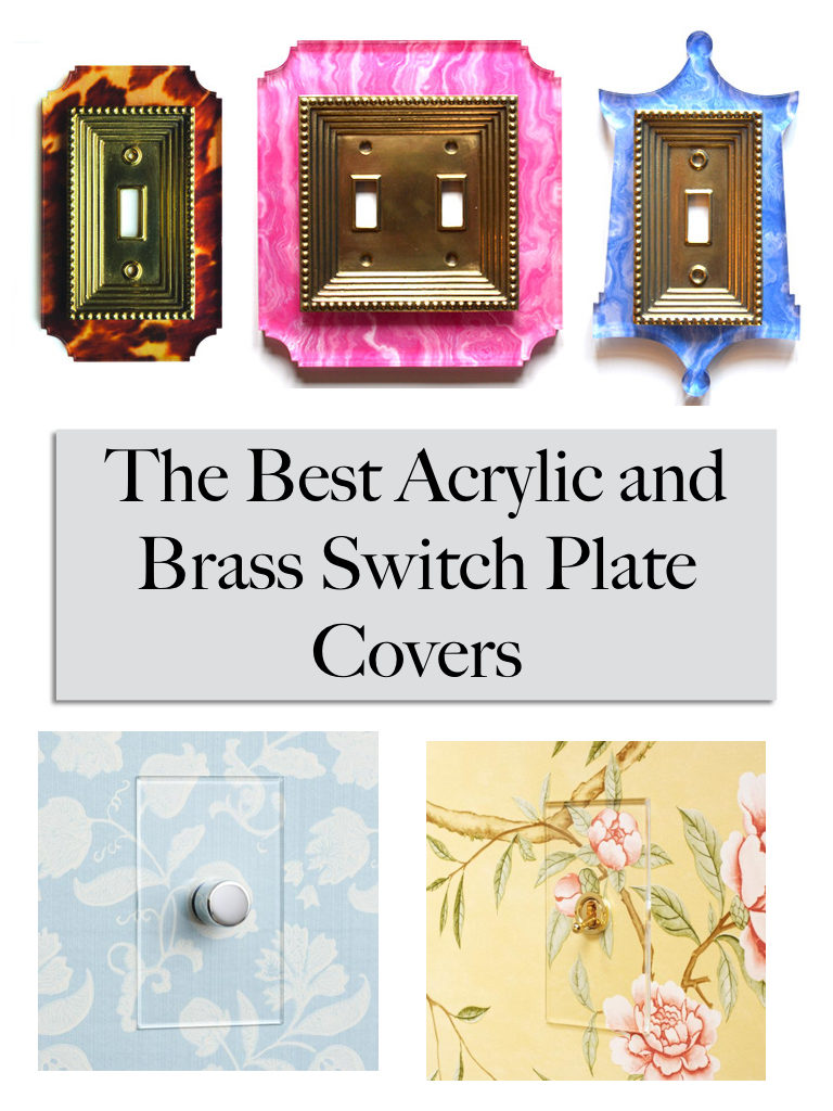 oversized brass light switch covers