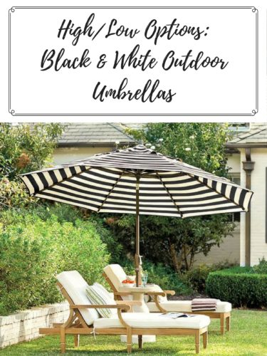 High Low Options Black Amp White Outdoor Umbrella